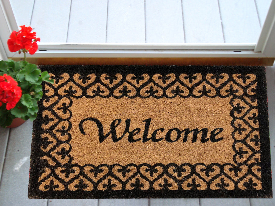 SuperScraper Mat - Heart Welcome-Doormats-Accentuary