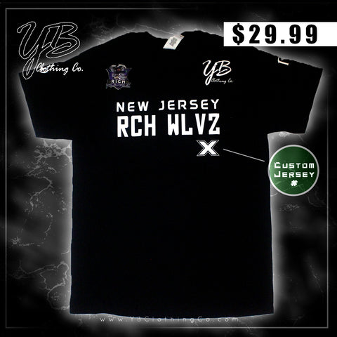 "Custom - ""New Jersey Rich Wolvez"" - Warm Up Jersey - Short Sleeve T-Shirt"
