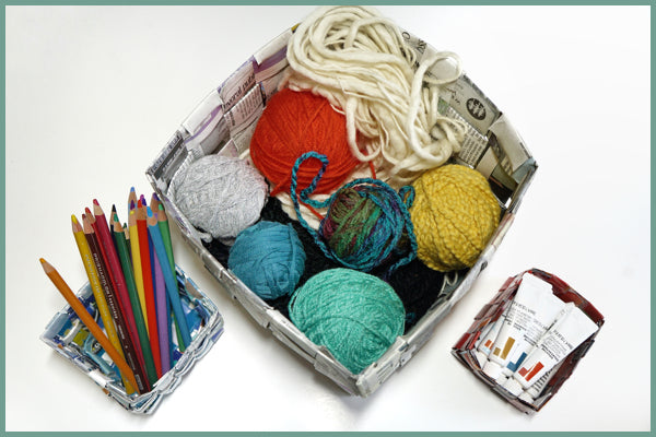 newspapaer basketry craft how to