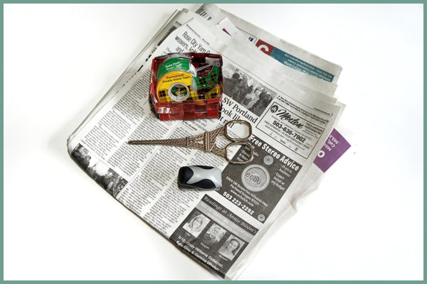 newspaper basket supplies