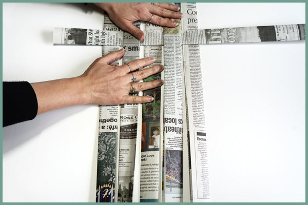 diy newspaper basket weaving