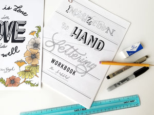 beginner's hand lettering workbook