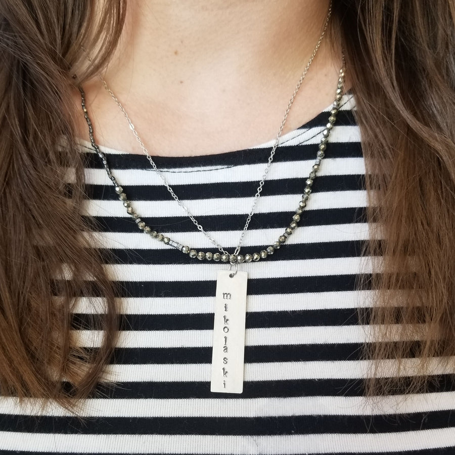 make a personalized metal stamped necklace