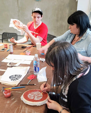 printmaking art workshop assembly