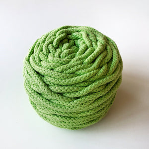 green braided macrame rope 4.5mm