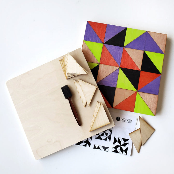 geometric wood art diy kit