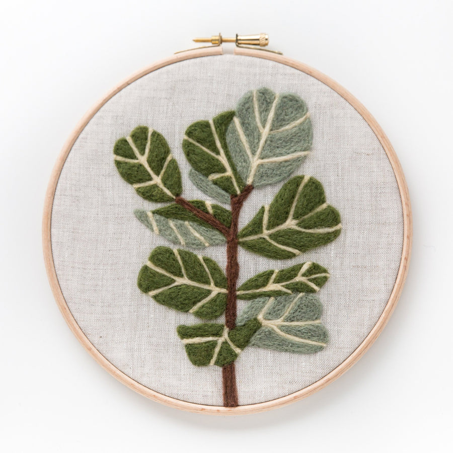 fiddle leaf plant flat needle felting kit
