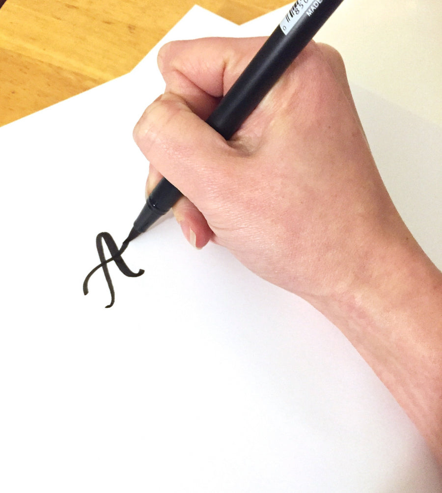 learn how to do brush pen writing