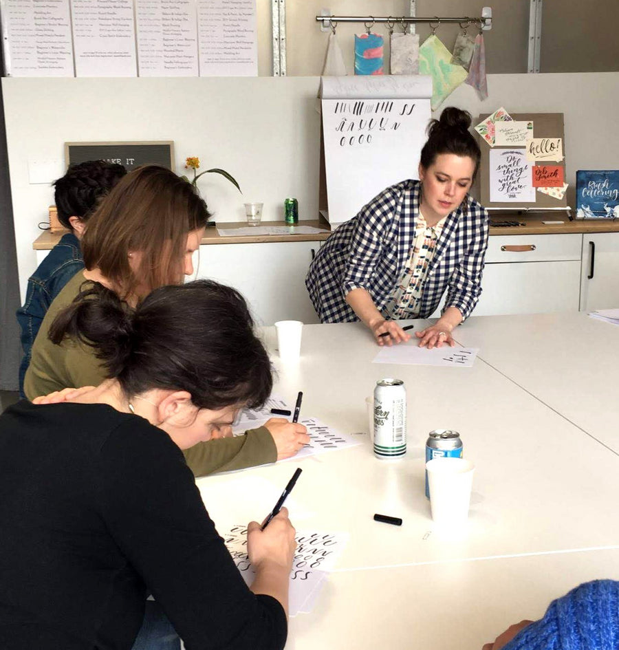 brush pen lettering workshop
