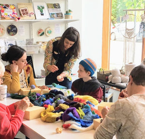 learn needle felting workshop