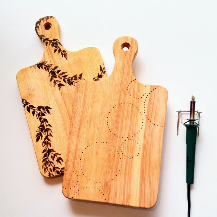 wood burning cheese board class portland