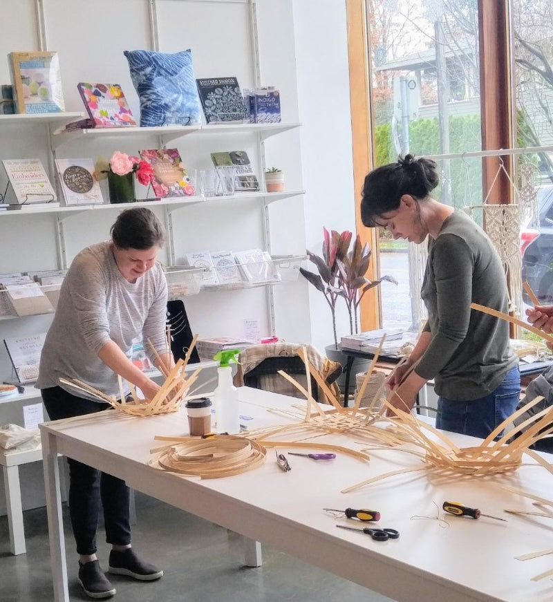 Basketry Workshop in session