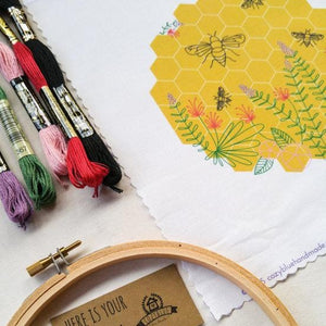 beginner's embroidery kit