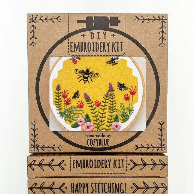 bee lovely embroidery kit craft