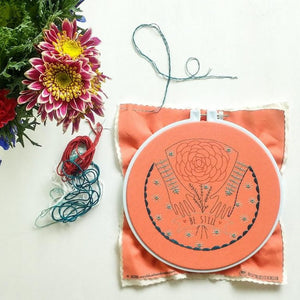 be still hands embroidery kit