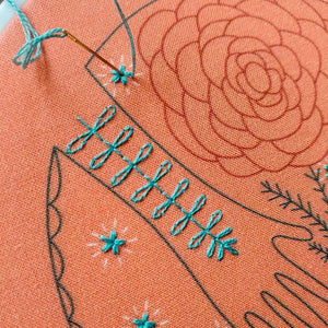 closeup embroidery kit