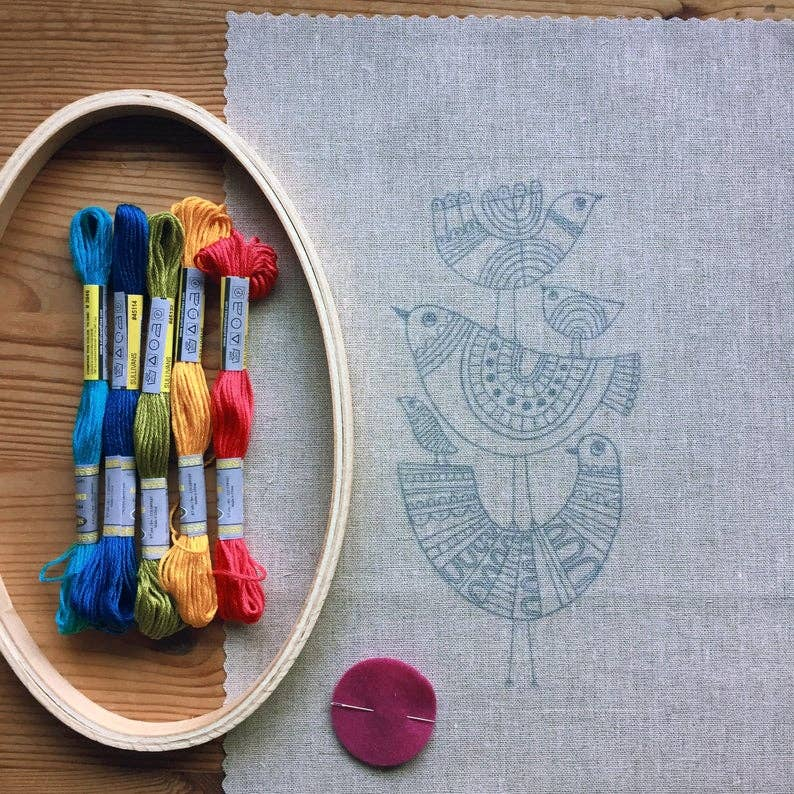 oval embroidery hoop kit