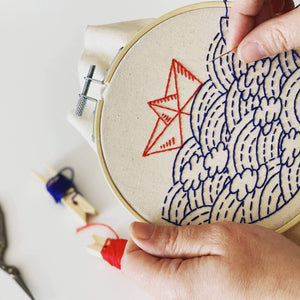 beginner's nautical embroidery kit