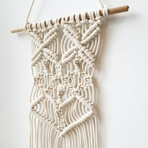 macrame wall hanging braided rope