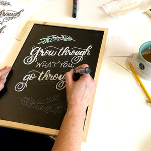 chalkboard art lettering diy kit