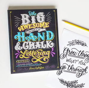 chalk lettering book diy kit