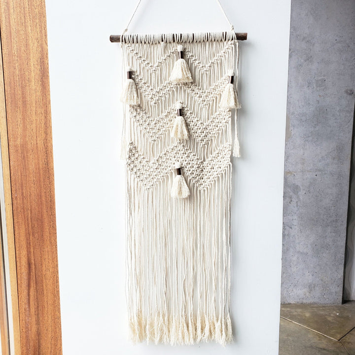 macrame wall hanging kit tassels
