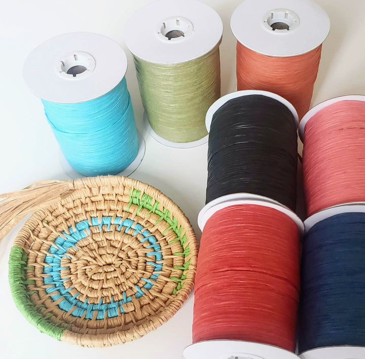 Colors - Raffia Paper Ribbon for Basket Making