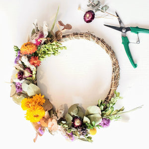 dried floral wreath making kit