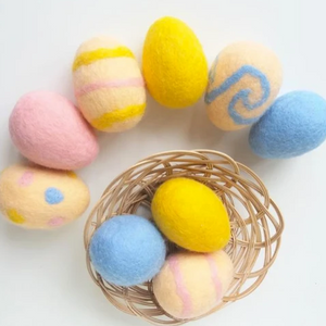 Felted Eggs for Spring Class