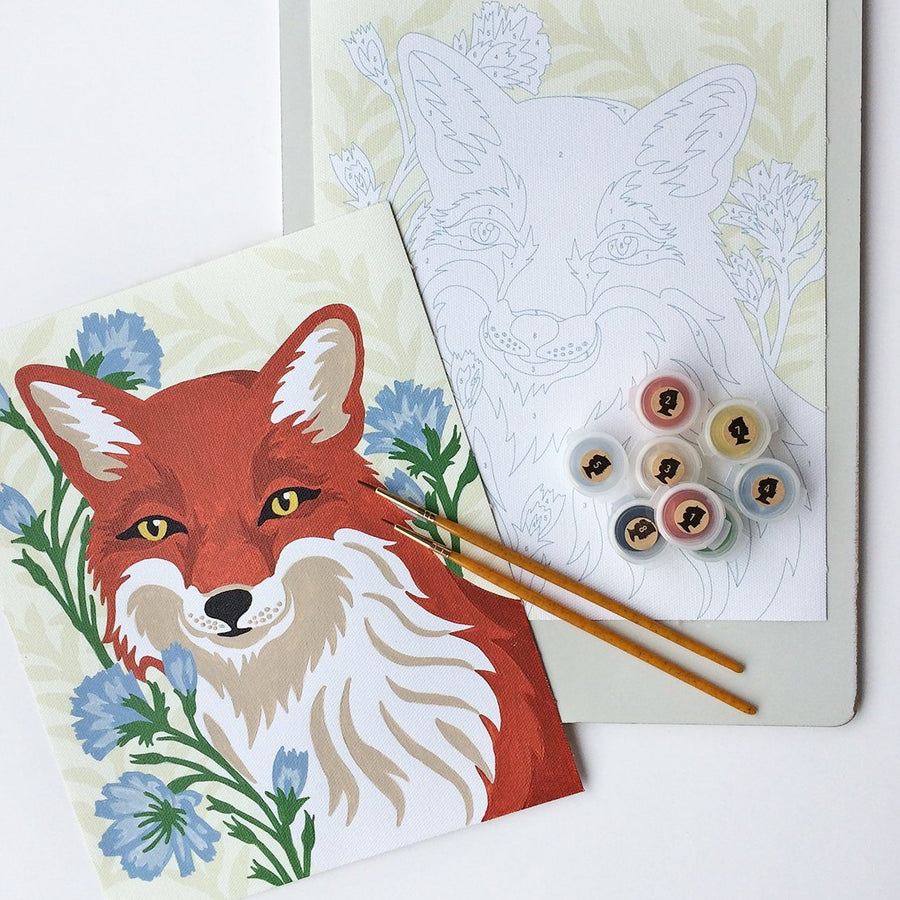 fox with chicory painting kit