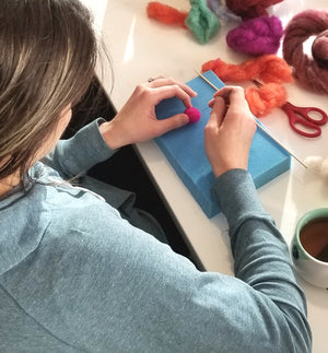 online virtual needle felting workshop