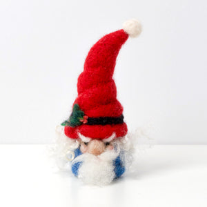 needle felting workshop wool gnome elf