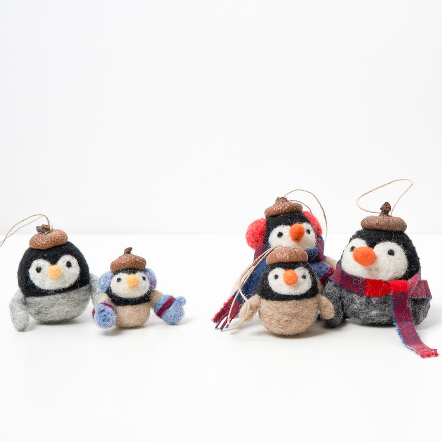 needle felting class holiday winter penguins online