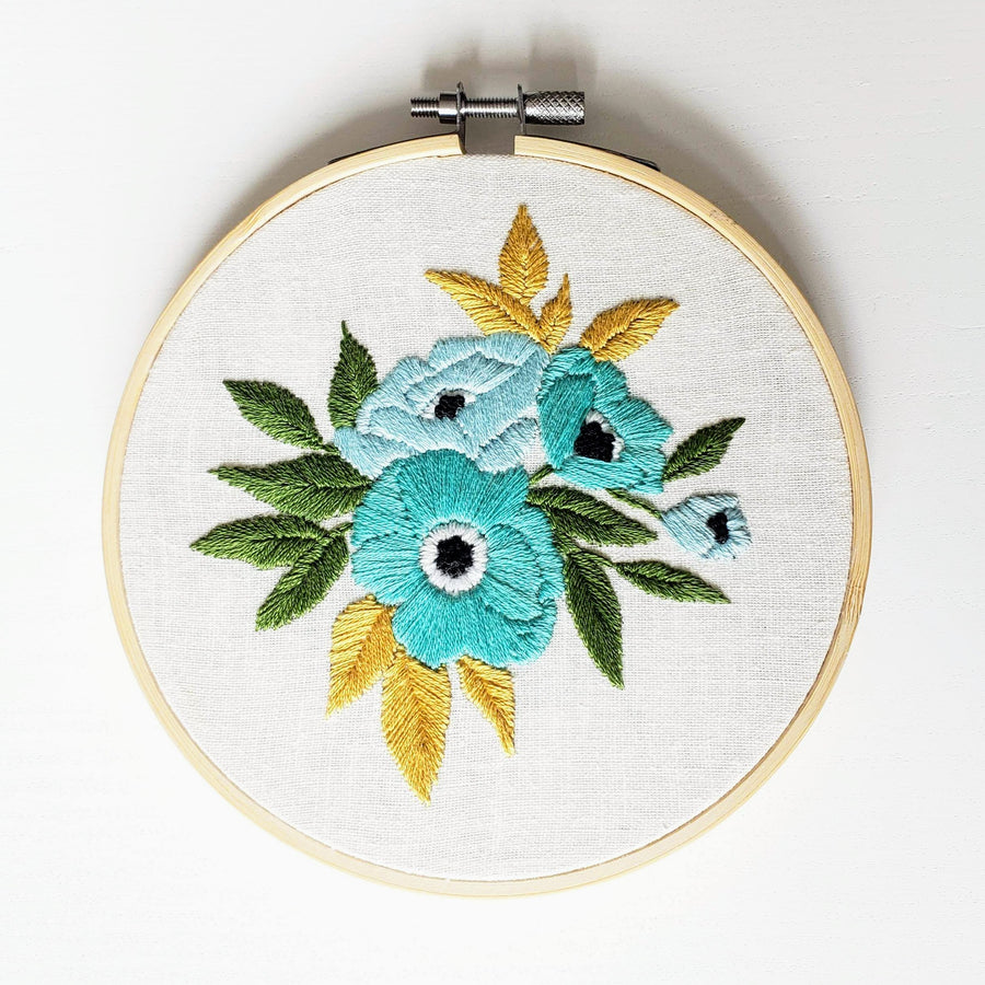 fill floral embroidery kit