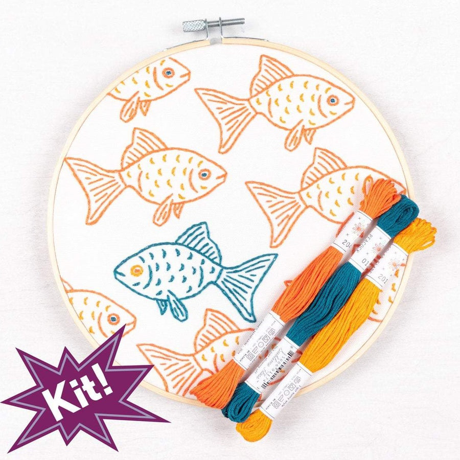 fish poplush studiomme embroidery kit