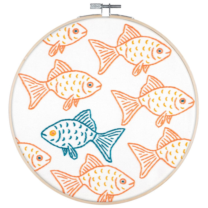 goldfish embroidery kit