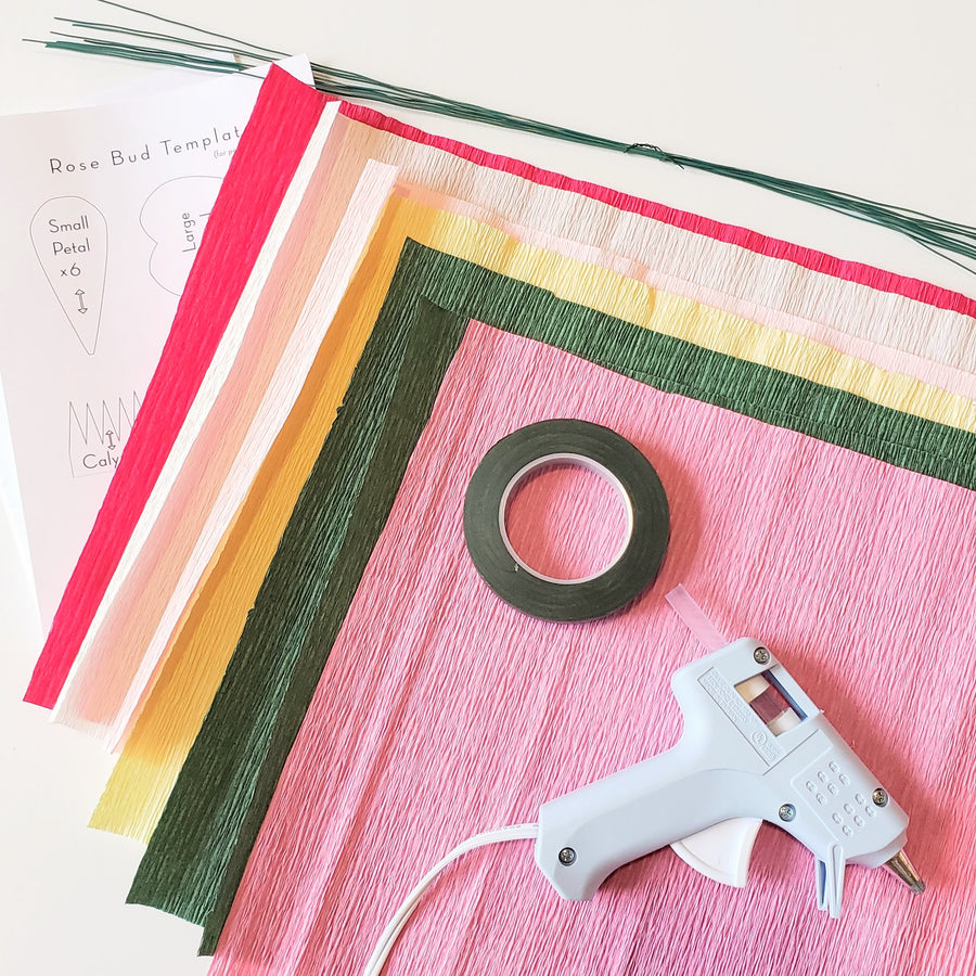 crepe paper flowers diy kit