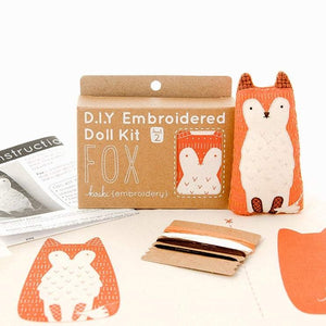 Fox Embroidered Plushie Kit
