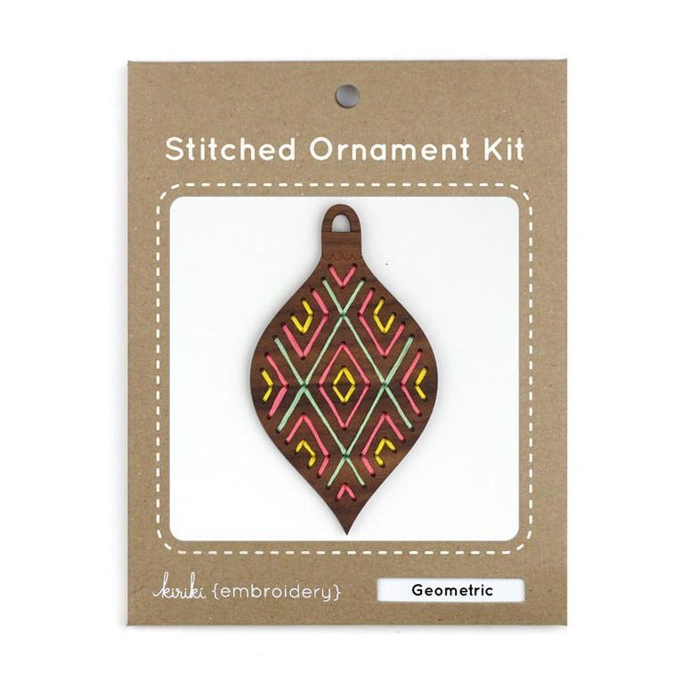 christmas ornament embroidery kit