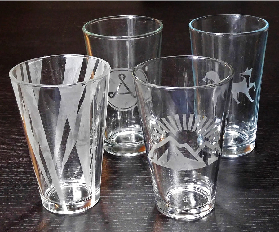 custom etched drinking glasses