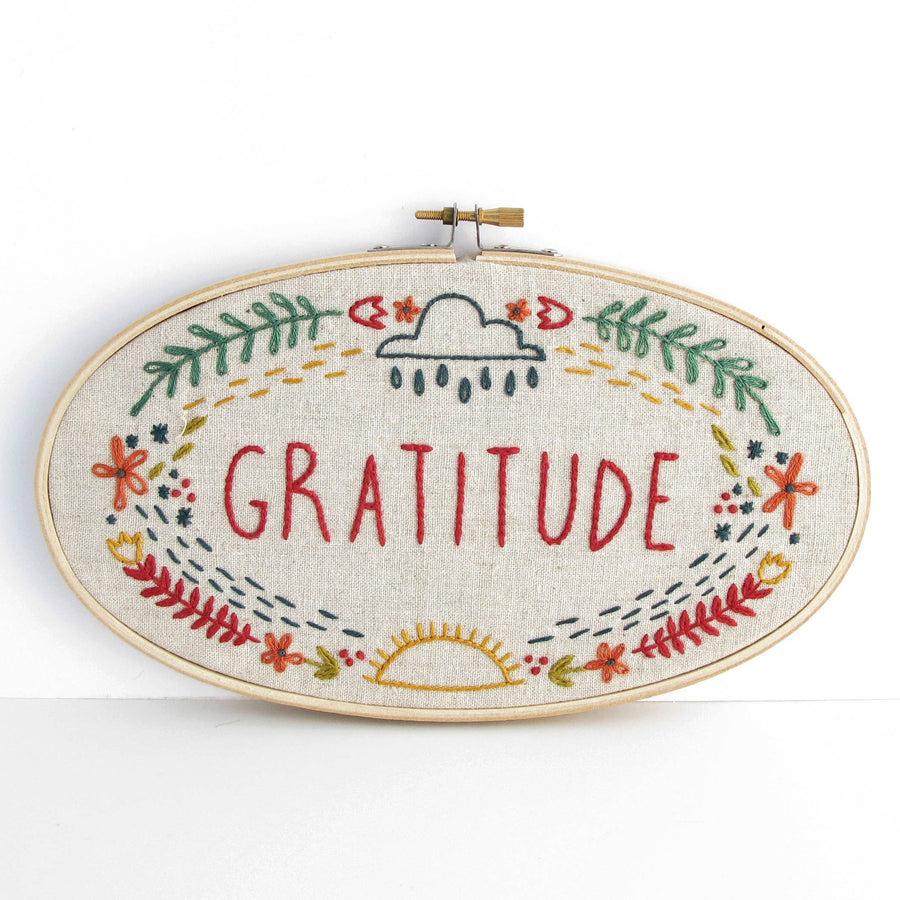 gratitude embroidery kit budgie goods