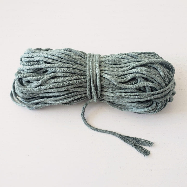 green sage macrame string twisted rope