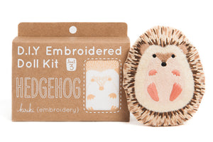 hedgehog embroidered plush doll kit