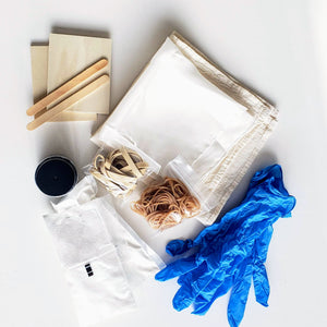 Shibori & Indigo Dye Kit (includes dyeables!)