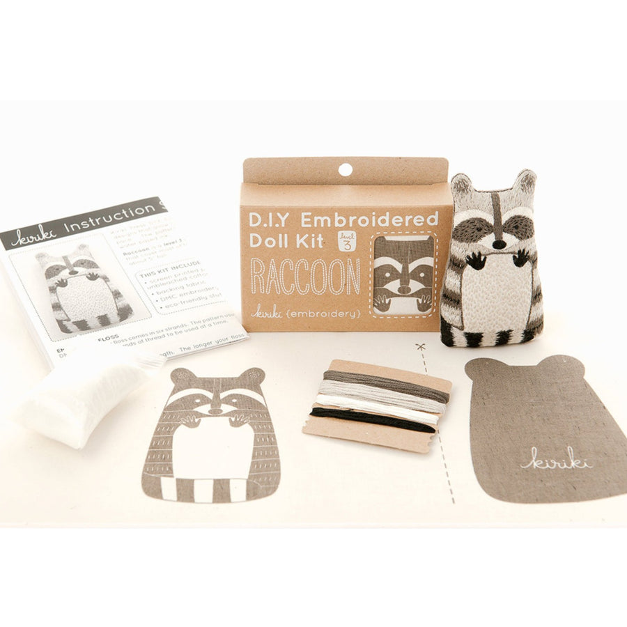 diy embroidered stuffed animal craft kit
