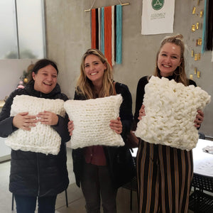 chunky knit blanket workshop portland
