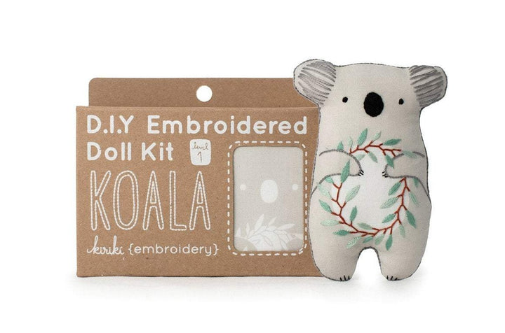 koala bear embroidered doll plush kit