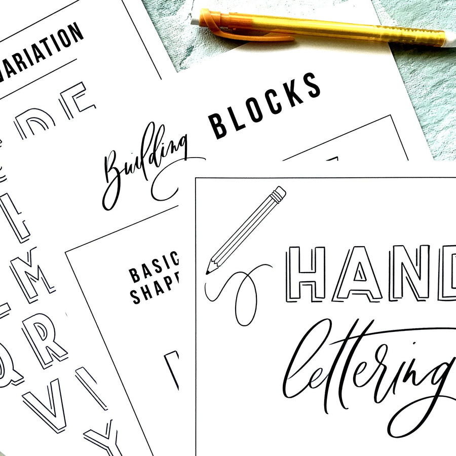 lettering by hand jumpstart online class