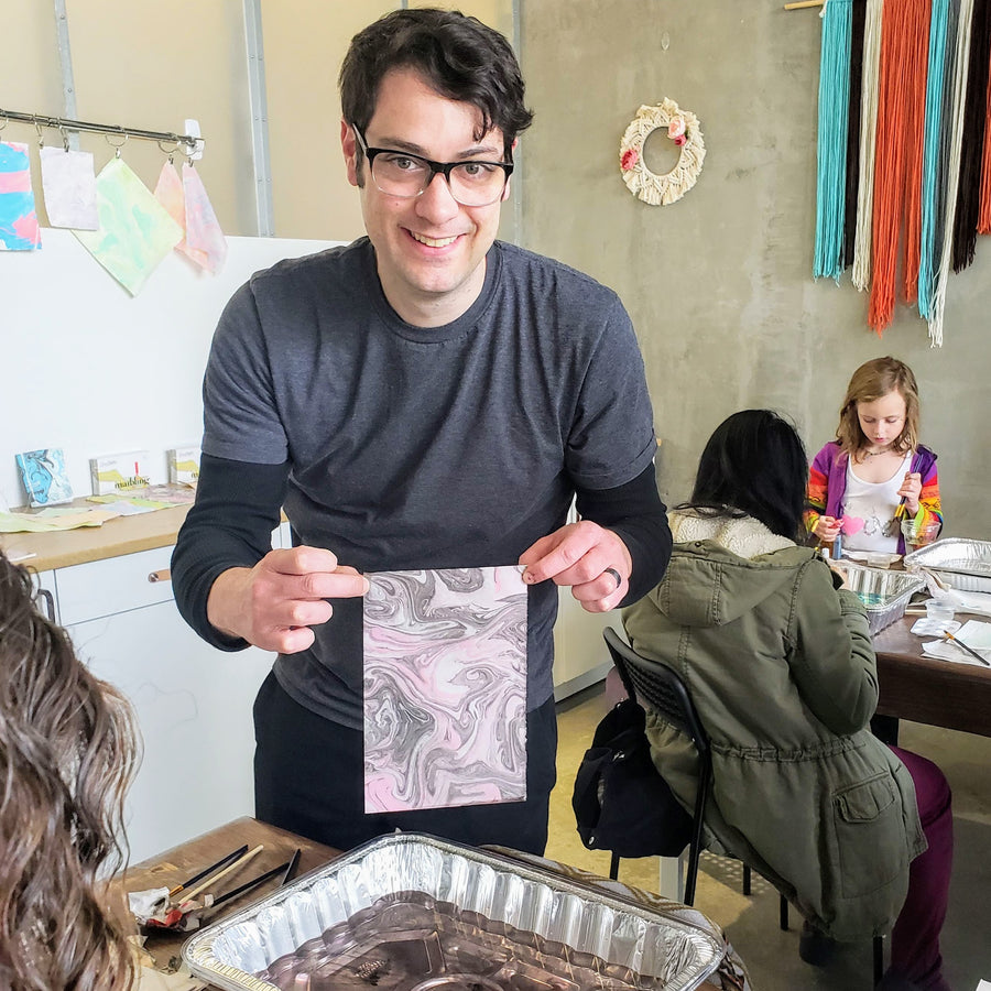 paper marbling suminagashi workshop