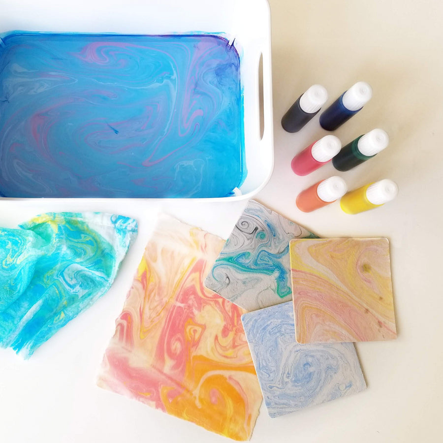 marbling paper and fabric class in portland